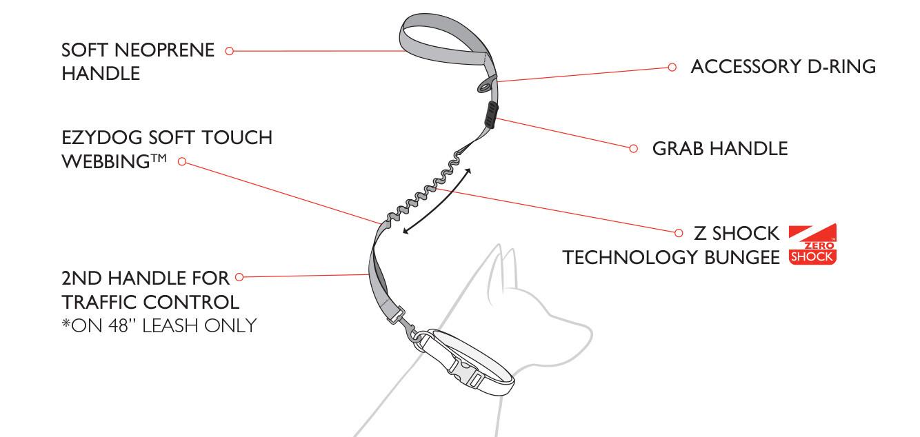 Zero Shock Leash Features